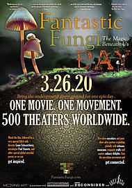 "Movie poster for ""FANTASTIC FUNGI"""