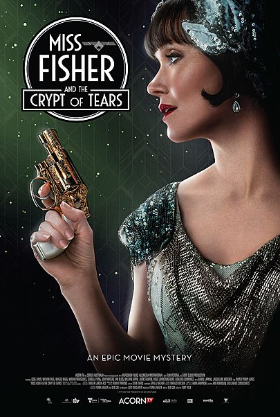 "Movie poster for ""MISS FISHER AND THE CRYPT OF TEARS"""
