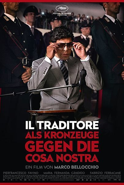"""Filmplakat für """"IL TRADITORE - ALS KRONZEUGE GEGEN DIE COSA NOSTRA"""""""