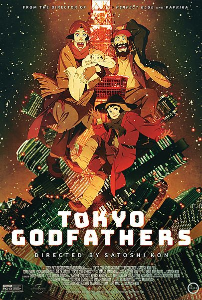 "Movie poster for ""TOKYO GODFATHERS"""