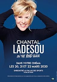 "Movie poster for ""CHANTAL LADESOU: ON THE ROAD AGAIN"""