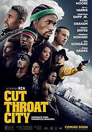"Movie poster for ""CUT THROAT CITY"""