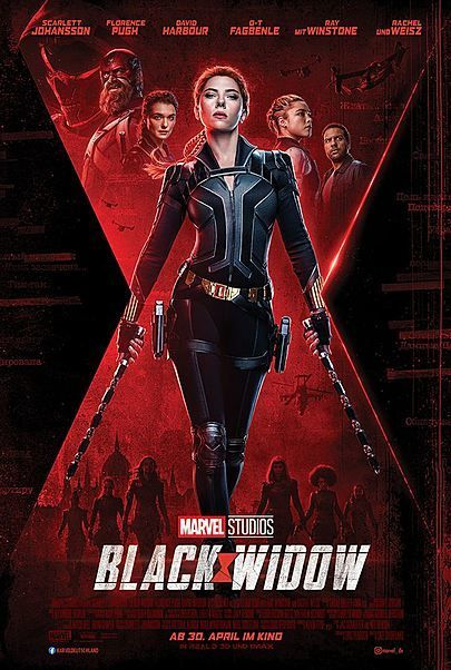 "Movie poster for ""BLACK WIDOW"""