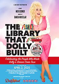 "Movie poster for ""THE LIBRARY THAT DOLLY BUILT"""