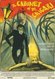 "Movie poster for ""THE CABINET OF DR. CALIGARI (2014 4K RESTORATION)"""
