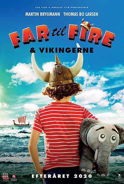Plakat for FAR TIL FIRE OG VIKINGERNE