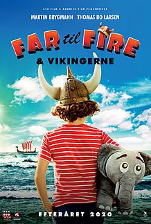 "Movie poster for ""FAR TIL FIRE OG VIKINGERNE"""