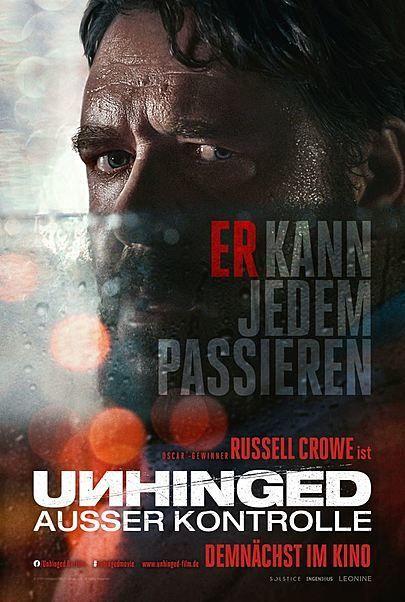 """Filmplakat für """"UNHINGED - AUSSER KONTROLLE"""""""