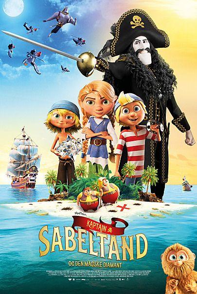 "Movie poster for ""KAPTAJN SABELTAND OG DEN MAGISKE DIAMANT"""