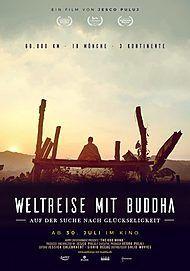"""Filmplakat für """"WELTREISE MIT BUDDHA - AUF DER SUCHE NACH GLÜCKSELIGKEIT"""""""