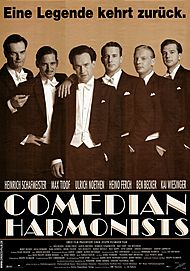 """Movie poster for """"COMEDIAN HARMONISTS"""""""