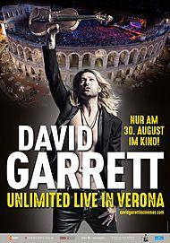 """Filmplakat für """"DAVID GARRETT: UNLIMITED - LIVE IN VERONA"""""""