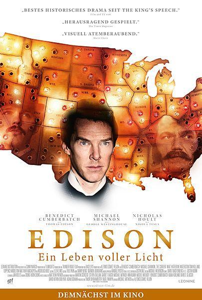 """Filmplakat für """"EDISON - EIN LEBEN VOLLER LICHT"""""""
