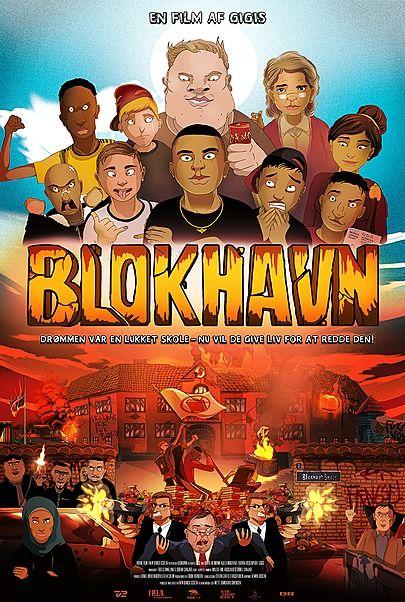 """Movie poster for """"BLOKHAVN"""""""