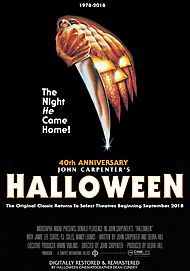 "Movie poster for ""JOHN CARPENTER'S HALLOWEEN (1978) - 40TH ANNIVERSARY"""