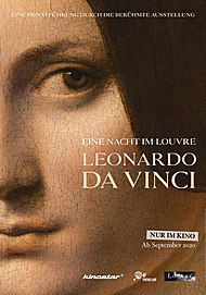 "Movie poster for ""EINE NACHT IM LOUVRE: LEONARDO DA VINCI"""