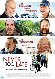 "Movie poster for ""NEVER TOO LATE"""