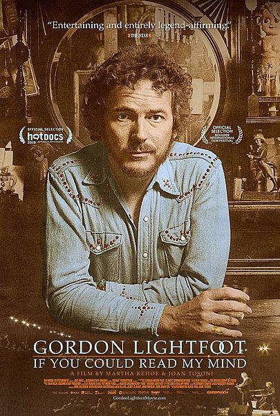 """Movie poster for """"GORDON LIGHTFOOT:  IF YOU COULD READ MY MIND"""""""