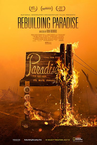 """Movie poster for """"REBUILDING PARADISE"""""""