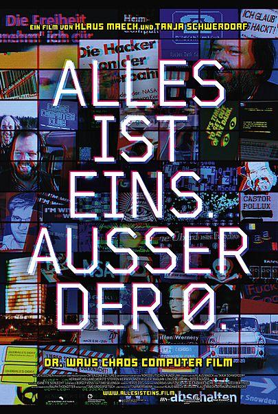 """Movie poster for """"ALLES IST EINS. AUSSER DER 0."""""""