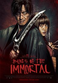 "Movie poster for ""BLADE OF THE IMMORTAL"""