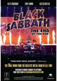 "Movie poster for ""BLACK SABBATH: THE END OF THE END"""