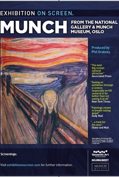 "Movie poster for ""EXHIBITION ON SCREEN: MUNCH"""