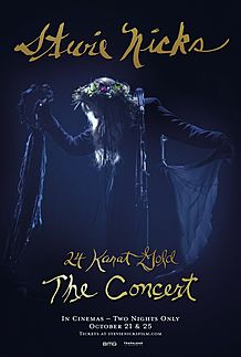 "Movie poster for ""STEVIE NICKS 24 KARAT GOLD THE CONCERT"""