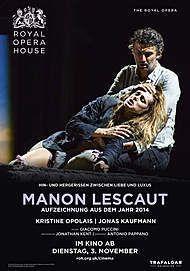 "Movie poster for ""MANON LESCAUT - ROYAL OPERA HOUSE 2020 """