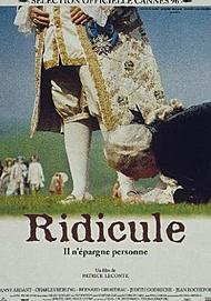 "Movie poster for ""RIDICULE"""