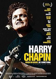 "Movie poster for ""HARRY CHAPIN: WHEN IN DOUBT, DO SOMETHING"""