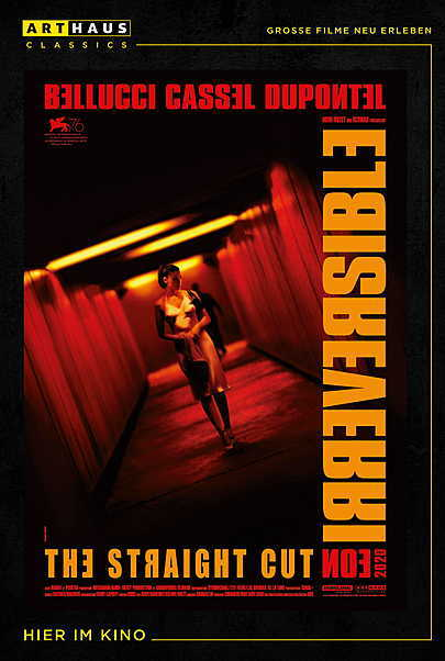 "Filmplakat für ""IRREVERSIBEL STRAIGHT CUT"""