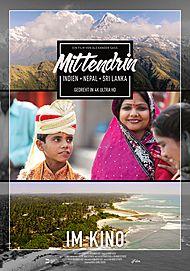 "Movie poster for ""MITTENDRIN - INDIEN, NEPAL & SRI LANKA"""