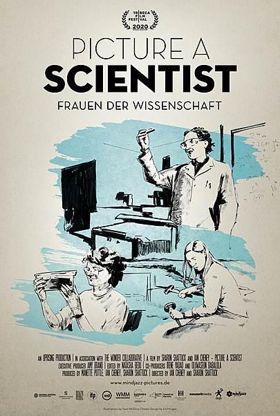 """Filmplakat für """"PICTURE A SCIENTIST - FRAUEN DER WISSENSCHAFT"""""""