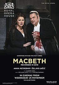 "Movie poster for ""MACBETH - ROYAL OPERA HOUSE 2020 """