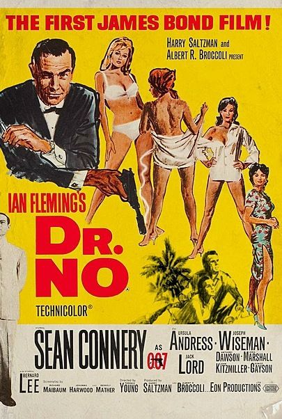 """Movie poster for """"Dr. No"""""""
