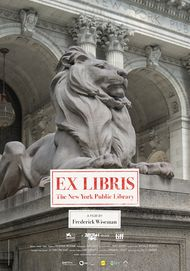 "Movie poster for ""EX LIBRIS - THE NEW YORK PUBLIC LIBRARY"""
