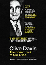 "Movie poster for ""CLIVE DAVIS THE SOUNDTRACK OF OUR LIVES"""