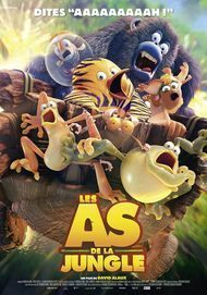"Movie poster for ""LES AS DE LA JUNGLE"""