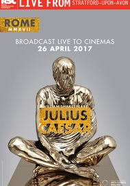 "Movie poster for ""JULIUS CAESER - Royal Shakespeare Company Live"""