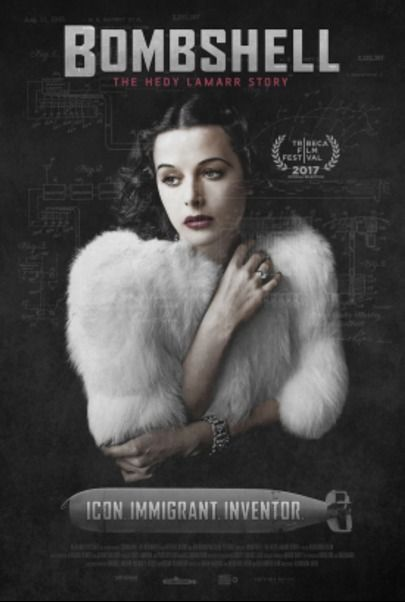 """Movie poster for """"BOMBSHELL: THE HEDY LAMARR STORY"""""""