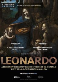 "Movie poster for ""LEONARDO: FROM THE NATIONAL GALLERY"""