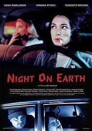 """Movie poster for """"NIGHT ON EARTH"""""""