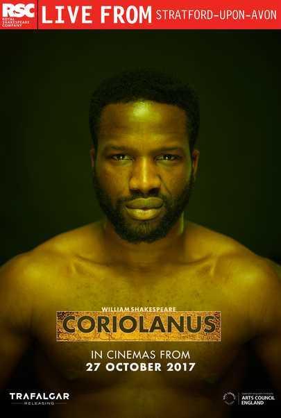"Movie poster for ""RSC Live: CORIOLANUS"""