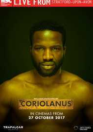 "Movie poster for ""RSC Live: CORIOLANUS"""