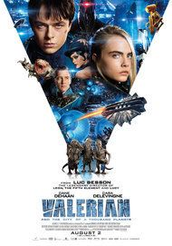 "Movie poster for "" VALERIAN AND THE CITY OF A THOUSAND PLANETS"""