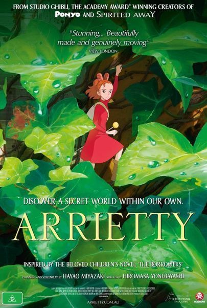 "Movie poster for ""ARRIETTY"""