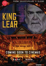 "Movie poster for ""KING LEAR - Shakespeare's Globe Theater"""
