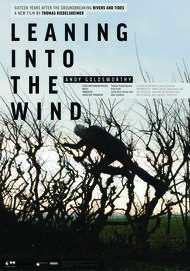 "Movie poster for ""LEANING INTO THE WIND: ANDY GOLDSWORTHY"""