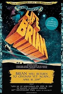 "Movie poster for ""MONTY PYTHON'S LIFE OF BRIAN (40th Anniversary Edition)"""